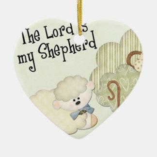 Ornamento De Cerâmica o senhor é meus miúdos do shepard cristãos