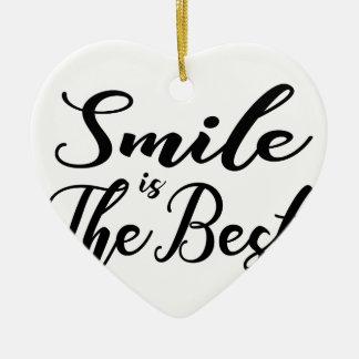 Ornamento De Cerâmica O sorriso é o melhor