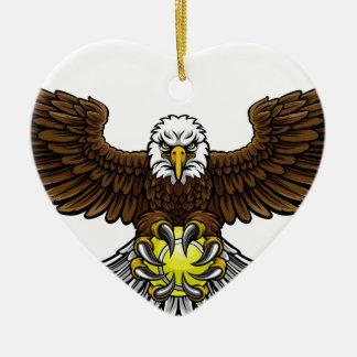 Ornamento De Cerâmica O tênis de Eagle ostenta a mascote
