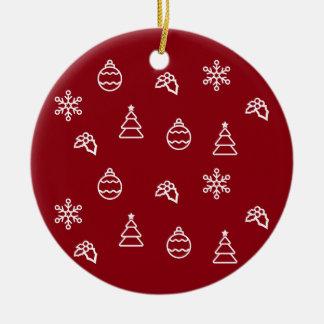 Ornamento De Cerâmica O teste padrão do Natal mim