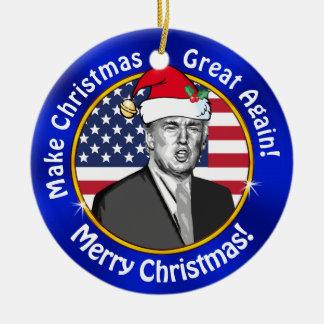 Ornamento De Cerâmica O trunfo barato faz o excelente do Natal outra vez