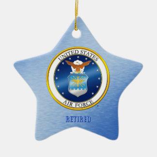 Ornamento De Cerâmica O U.S.A.F. aposentado Ornament