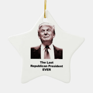Ornamento De Cerâmica O último presidente republicano Nunca