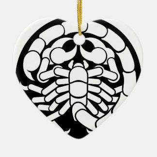 Ornamento De Cerâmica O zodíaco assina o ícone do escorpião da Escorpião