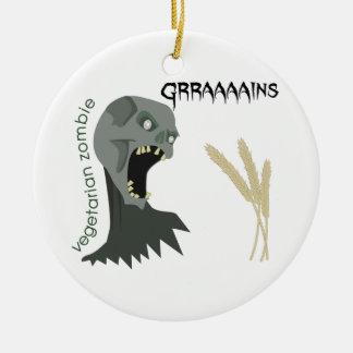 Ornamento De Cerâmica O zombi do vegetariano quer Graaaains!