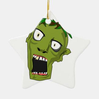 Ornamento De Cerâmica O zombi o Dia das Bruxas inoperante assustador