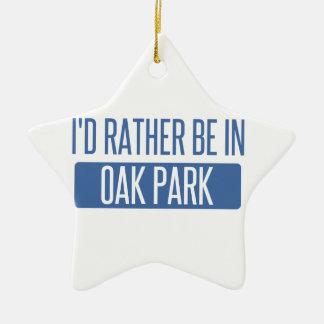Ornamento De Cerâmica Oak Park