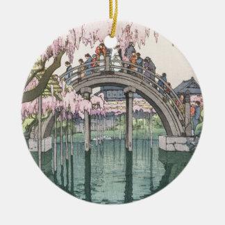 Ornamento De Cerâmica Obra-prima clássica oriental do vintage asiático