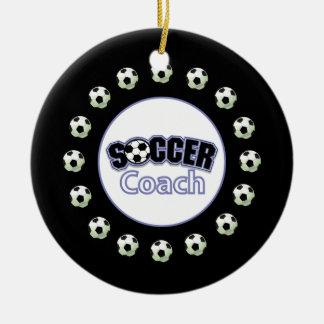 Ornamento De Cerâmica Obrigado do treinador do futebol você, bolas