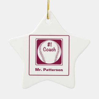 Ornamento De Cerâmica Obrigados treinador, obrigados número 1