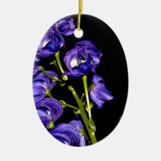 Ornamento De Cerâmica Obscurece lilás flor