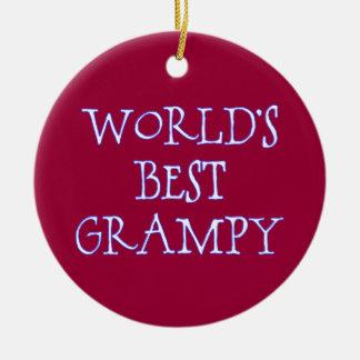 Ornamento De Cerâmica Obscuridade do Grampy do mundo a melhor - vermelho