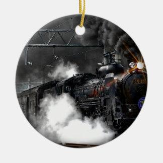 Ornamento De Cerâmica Obscuridade do trem do vapor