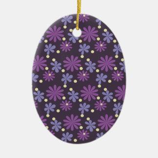Ornamento De Cerâmica Obscuridade floral Groovy