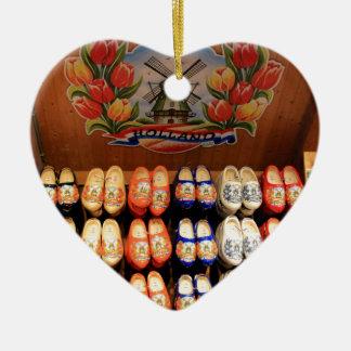 Ornamento De Cerâmica Obstruções pintadas de madeira, Holland 2