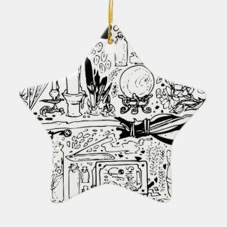 Ornamento De Cerâmica Oculto e mágico