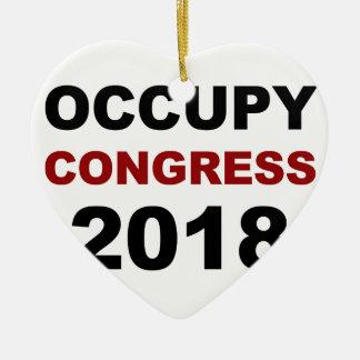 Ornamento De Cerâmica Ocupe o congresso 2018
