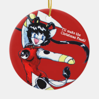 Ornamento De Cerâmica Oferta do Natal de Kyau