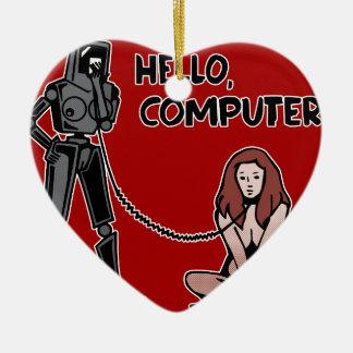 Ornamento De Cerâmica Olá!, computador