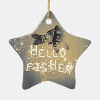 Ornamento De Cerâmica Olá! fisher