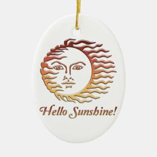 Ornamento De Cerâmica OLÁ! verão de Sun do divertimento da LUZ DO SOL
