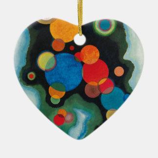 Ornamento De Cerâmica Óleo aprofundado do abstrato do impulso em canvas