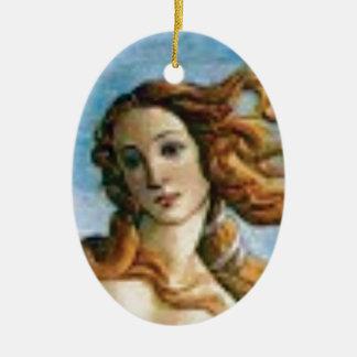Ornamento De Cerâmica óleo louro bonito