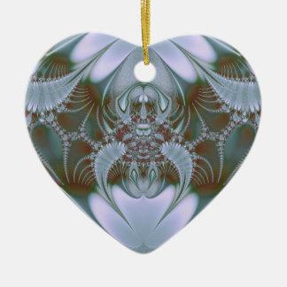 Ornamento De Cerâmica Olhar azul bonito da seda e do cetim
