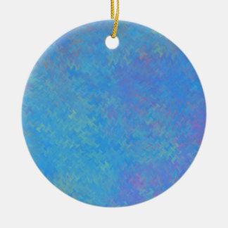 Ornamento De Cerâmica Olhar bonito do papel marmoreado do azul
