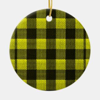 Ornamento De Cerâmica Olhar Checkered de serapilheira do teste padrão do