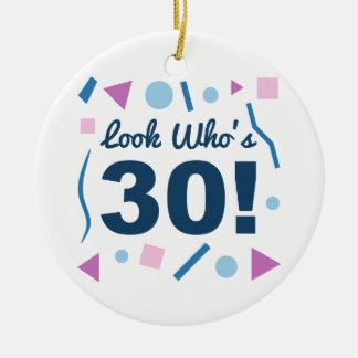 Ornamento De Cerâmica Olhe quem é 30