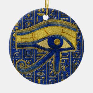 Ornamento De Cerâmica Olho egípcio do ouro do Lazuli de Horus - de