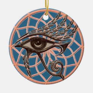 Ornamento De Cerâmica Olho ideal do coletor do azul de Horus
