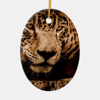 Ornamento De Cerâmica olhos de desengaço da água do jaguar