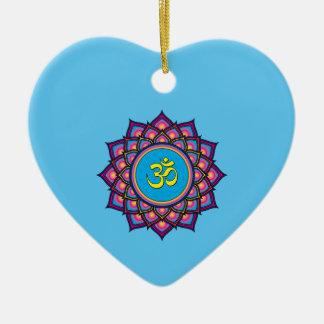 Ornamento De Cerâmica OM Shanti OM