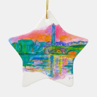 Ornamento De Cerâmica Onda de Washington