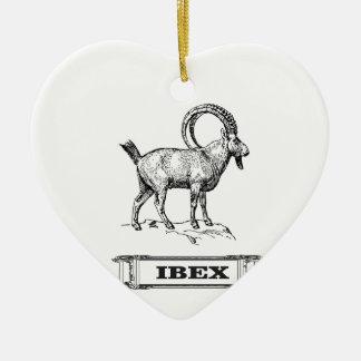 Ornamento De Cerâmica onda do rico do íbex
