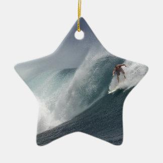 Ornamento De Cerâmica Onda surfando abstrata do mar