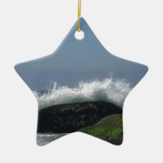 Ornamento De Cerâmica Ondas de oceano
