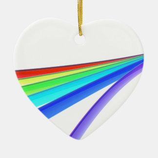 Ornamento De Cerâmica Ondas do arco-íris