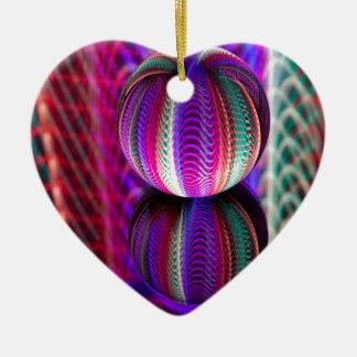 Ornamento De Cerâmica Ondas na bola de cristal