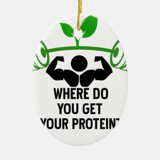 Ornamento De Cerâmica Onde você obtem sua proteína