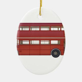 Ornamento De Cerâmica Ônibus do vermelho do autocarro de dois andares