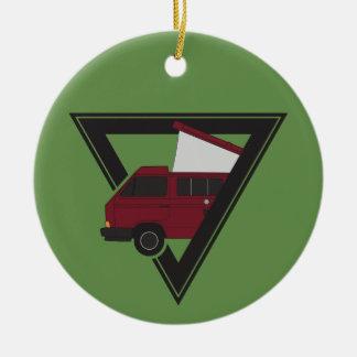 Ornamento De Cerâmica ônibus marrom do triângulo