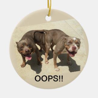 Ornamento De Cerâmica oops!!  Grávido!