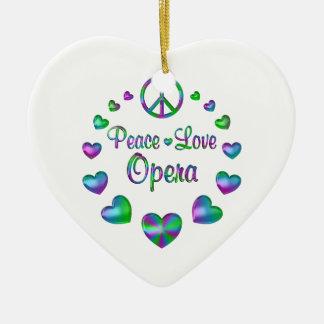 Ornamento De Cerâmica Ópera do amor da paz