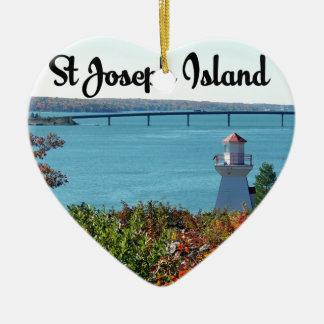 Ornamento De Cerâmica Opinião da ilha de St Joseph