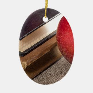 Ornamento De Cerâmica Opinião do fim-acima das maçãs vermelhas e velho