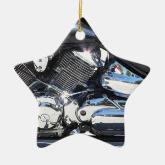 Ornamento De Cerâmica Opinião lateral cromada motocicleta do detalhe do