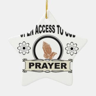 Ornamento De Cerâmica oração do acesso aberto
